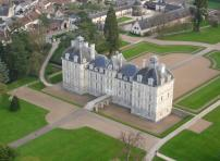 Chateau of Cheverny - helicopter